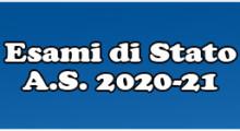 ESAMI DI STATO A.S. 2020-21