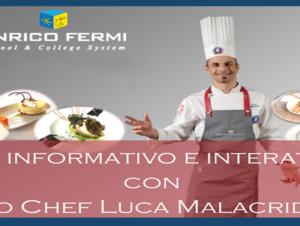 Talk Informativo e Interattivo con lo Chef Luca Malacrida